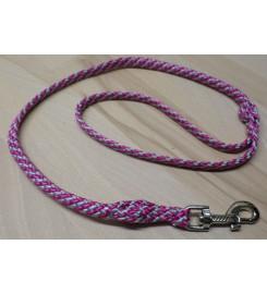Hondenriem PPM Zilvergrijs - Roze