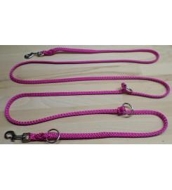 Hondenriem PPM Roze drievoudig verstelbaar