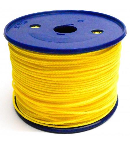 Gevlochten koord 2 mm - Geel