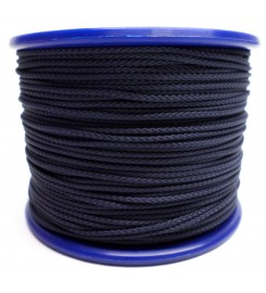Gevlochten koord 2 mm - Marineblauw