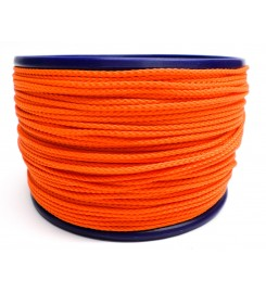 Gevlochten koord 2 mm - Oranje