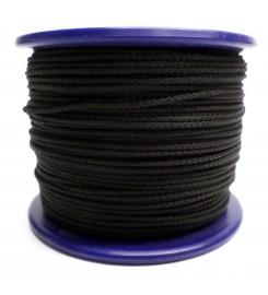 Gevlochten koord 3 mm - Zwart