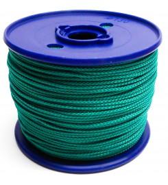 Gevlochten koord 3 mm - Groen