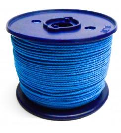 Gevlochten koord 3 mm - Blauw