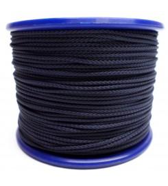 Gevlochten koord 3 mm - Marineblauw