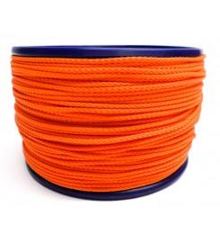 Gevlochten koord 3 mm - Oranje