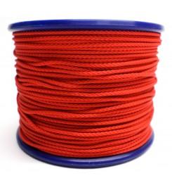 Gevlochten koord 3 mm - Rood
