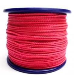 Gevlochten koord 3 mm - Roze