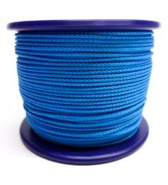 Gevlochten koord 3 mm - Turquoise