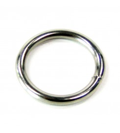 Ronde ring vernikkeld 50 x 4 mm