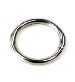 Ronde ring vernikkeld 60 x 6 mm
