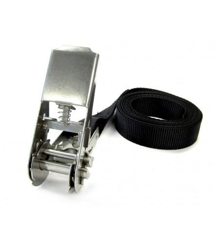Spanband 25 mm met RVS ratel - 5 meter