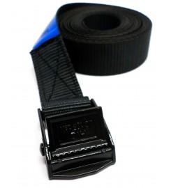 Zwarte spanband 25 mm - 3 meter met zwarte klemsluiting