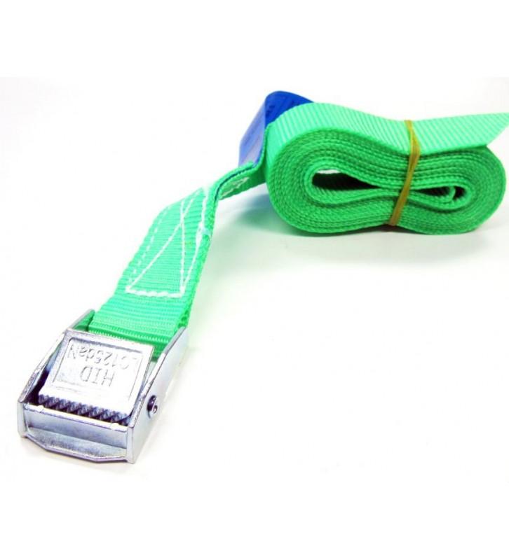 Spanbandje 25 mm - 4.5 meter groen