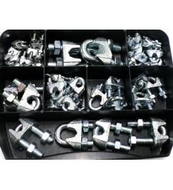 Assortimentsbox Staaldraadklemmen
