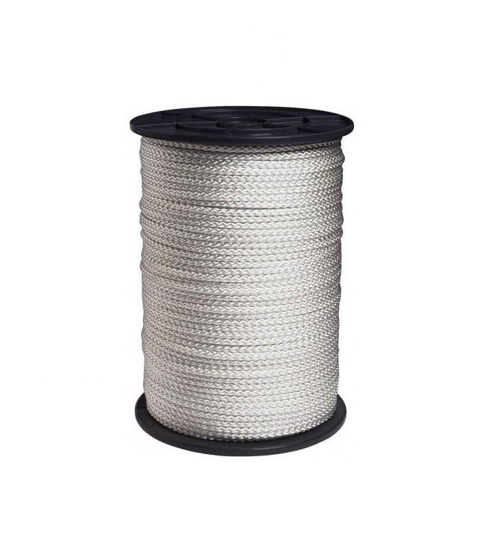 Wit nylon touw 2 mm op 100 meter rol