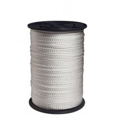 Wit nylon touw 6 mm op volle rol 100 meter