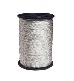 Sterk wit nylon touw 10 mm op 100 meter rol