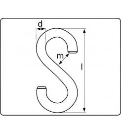 S-haak 4 mm verzinkt