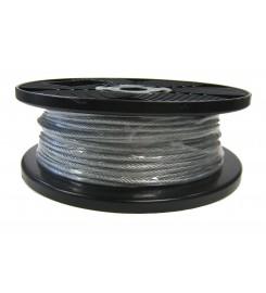 Staaldraad 3 mm gevlochten per rol (100m.)