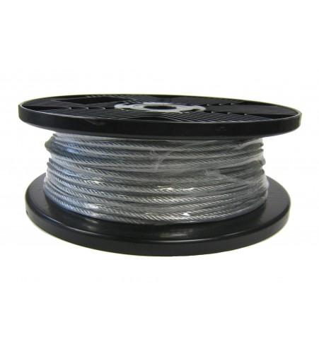 Staaldraad 4 mm gevlochten per rol (100m.)